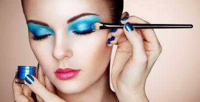 sombras maquillaje azul
